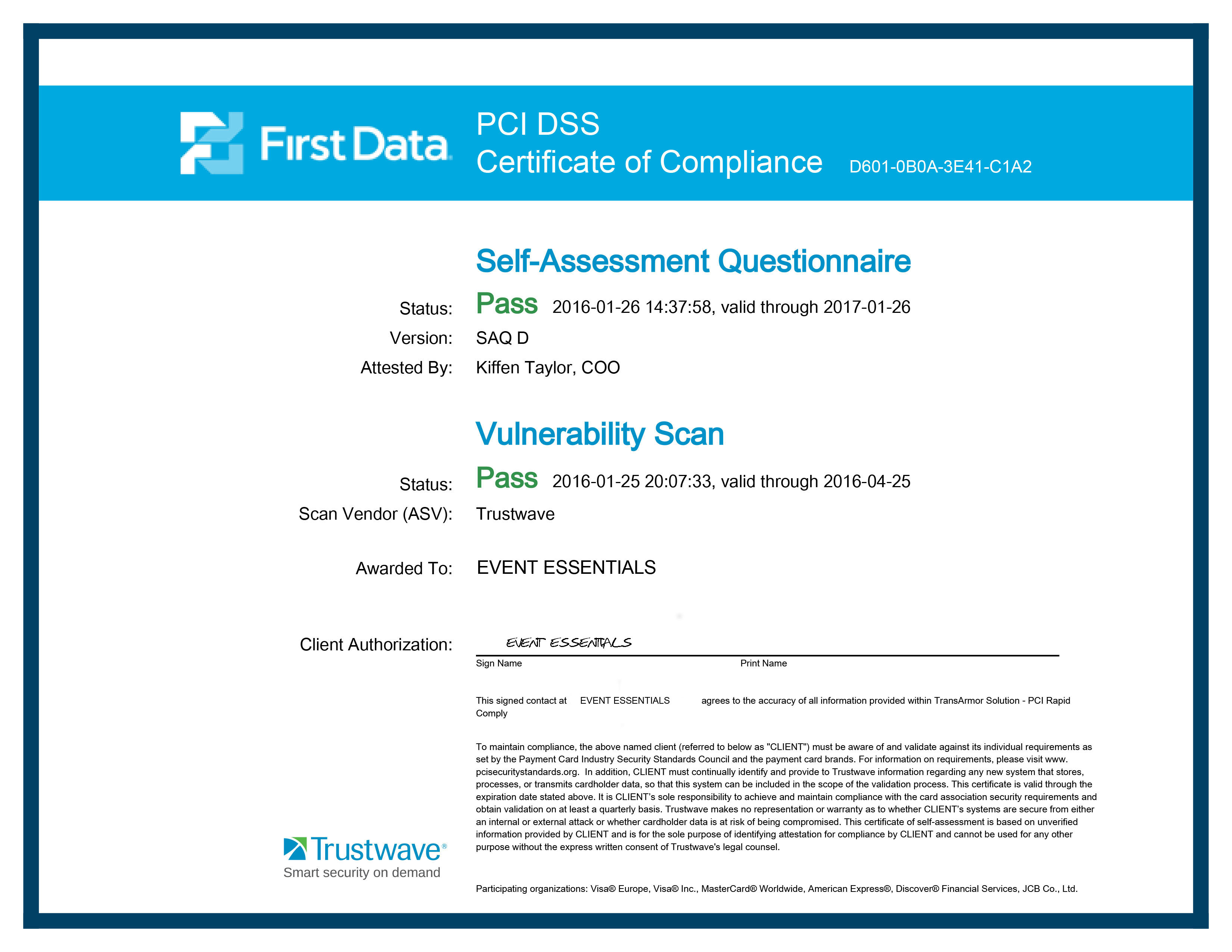 Event essentials security policy trustwave compliance certificate 1betcityfo Image collections